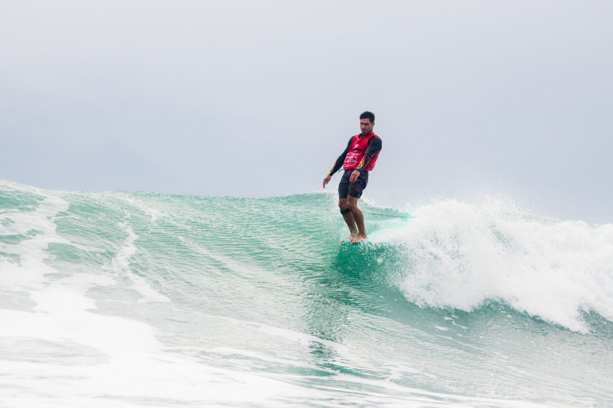Piccolo Clemente At the 2018 Taiwan Open Of Surfing World Longboard Championships.