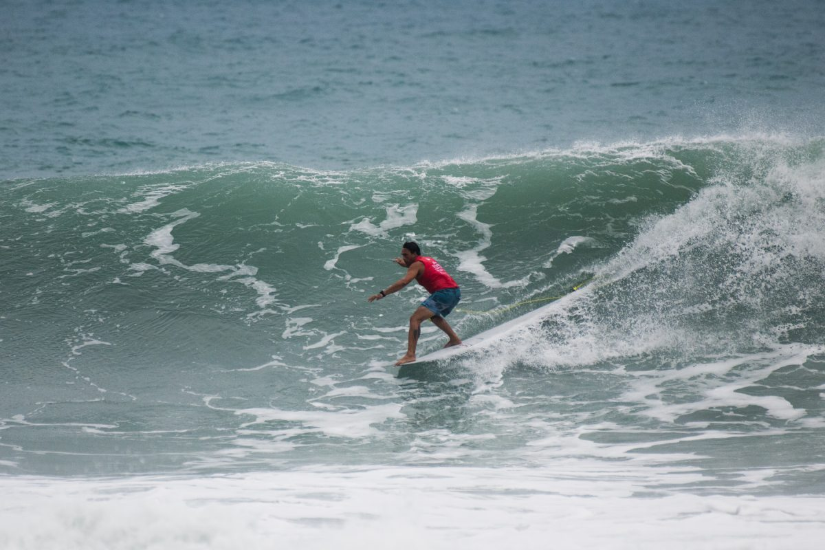 Duane Desoto At the 2018 Taiwan Open Of Surfing World Longboard Championships.