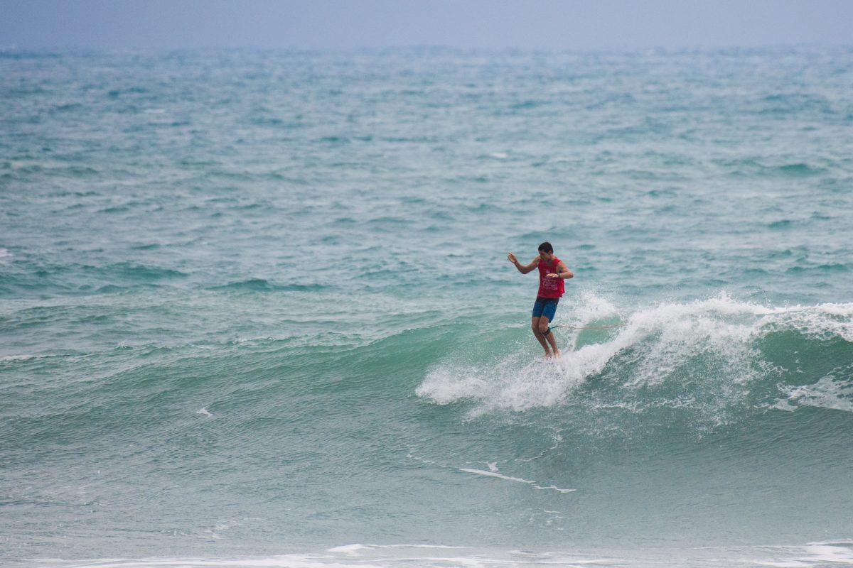 Jack Entwistle At the 2018 Taiwan Open Of Surfing World Longboard Championships.