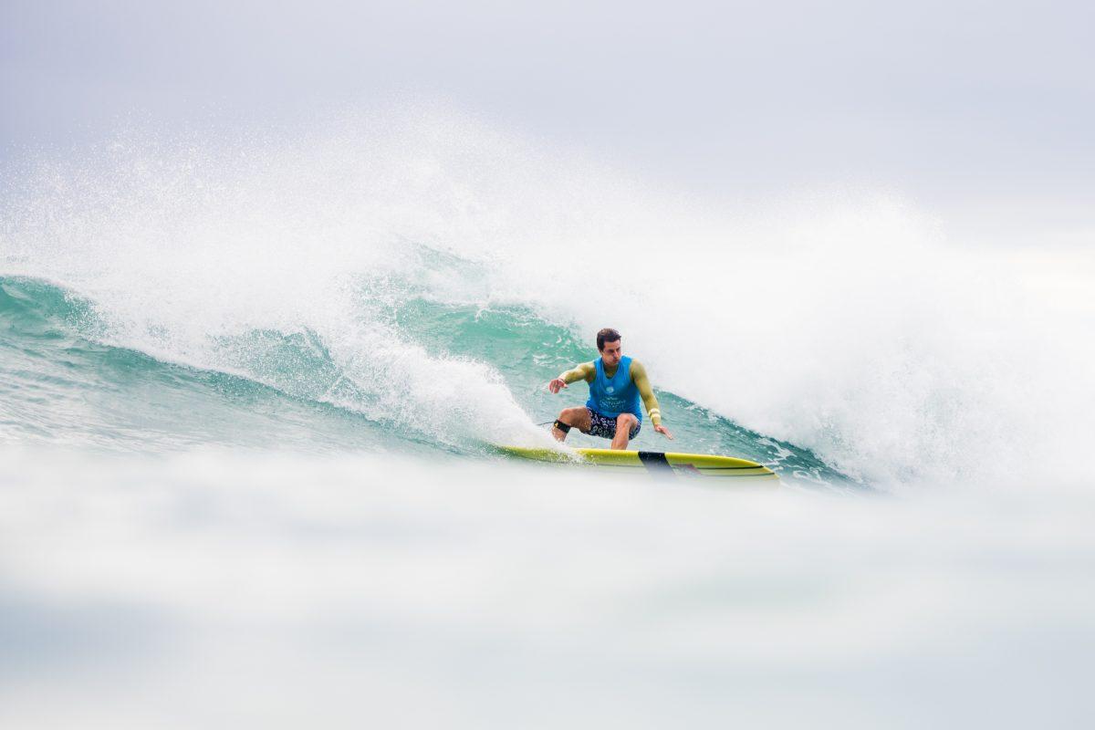 Nic Jones At the 2018 Taiwan Open Of Surfing World Longboard Championships.