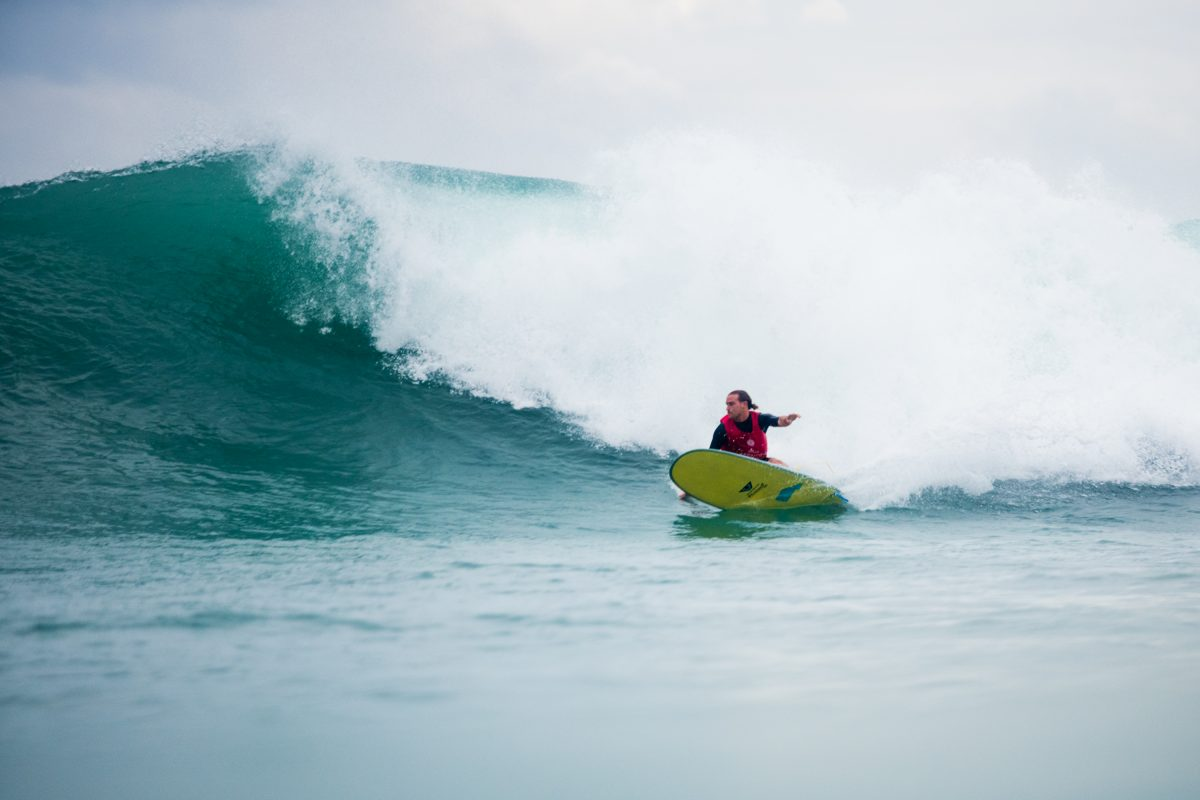 Steven Sawyer At the 2018 Taiwan Open Of Surfing World Longboard Championships.