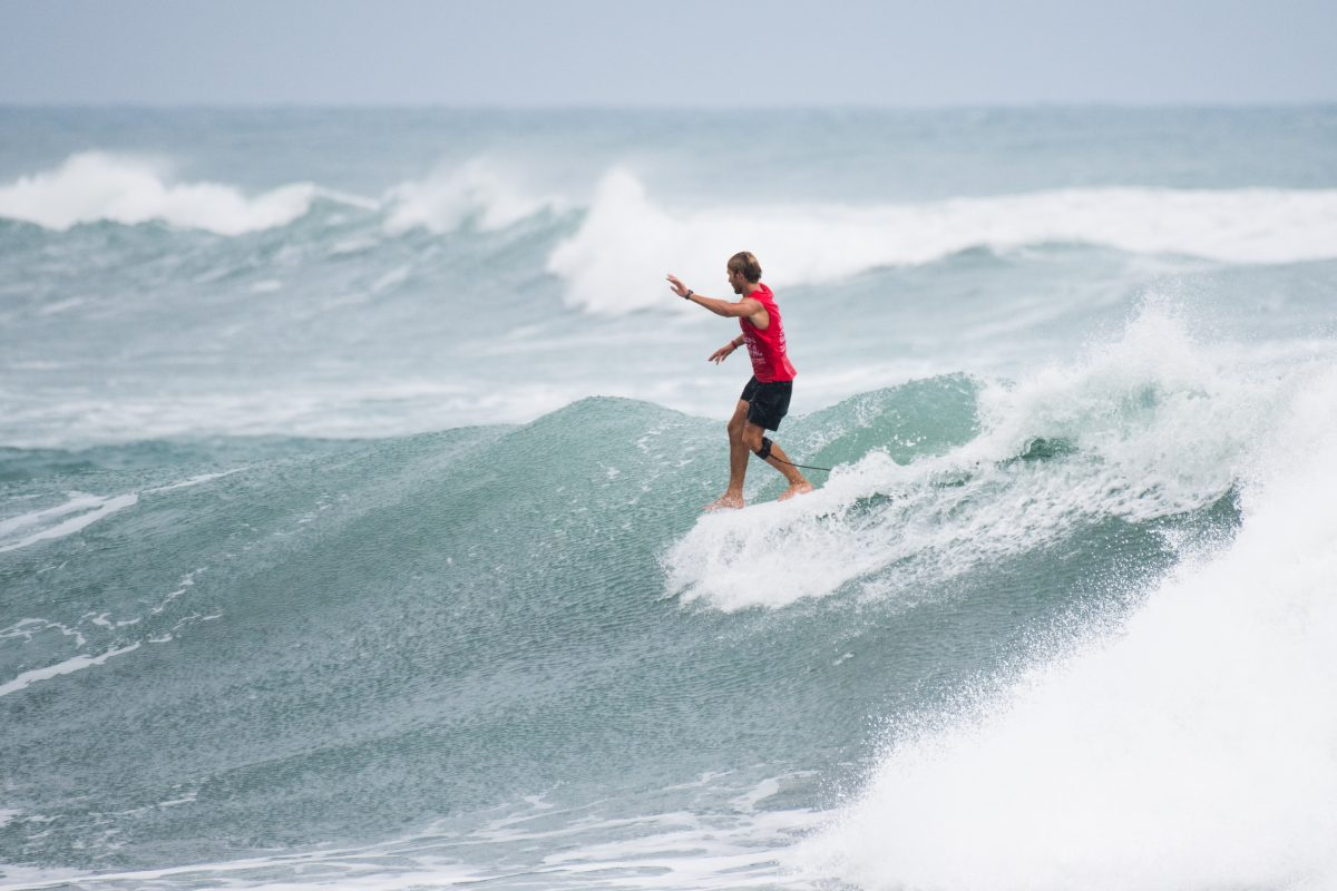 Kevin Skvarna At the 2018 Taiwan Open Of Surfing World Longboard Championships.